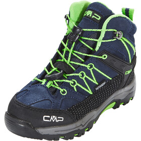 CMP Campagnolo Kids Rigel Mid WP Trekking Shoes Black Blue-Gecko